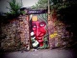 Streetart graffiti tagging free art in bristol green