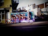 Streetart graffiti tagging in Bristol