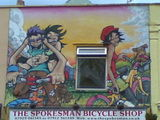 the bicycle seller prt2 #streetart #stwerburghs #bristol #silenthobo
