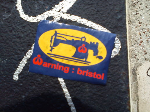 Warning Bristol #stickers #streetart