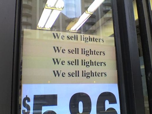 Know where i could buy a lighter nearby?