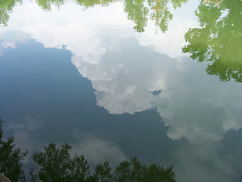 Sky, reflected