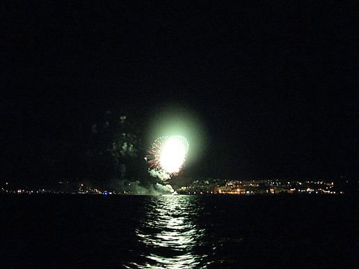 July 3rd, fireworks from the water
