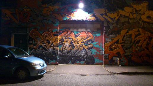 Night Art Digbeth Graffiti At Weird But In A Good Way
