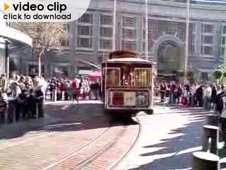 Cable car on a turntable