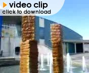Rotating fountain blocks