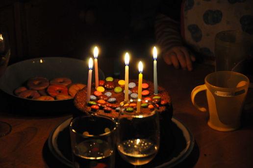 Strange Birthday Cake Celebration