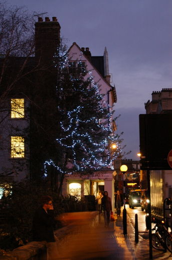 Cambridge at night in the run up to Christmas