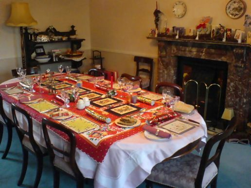 Christmas Day table setting