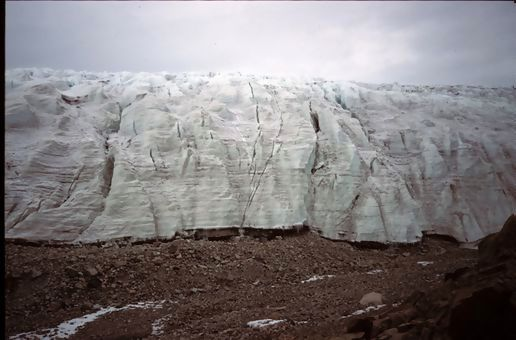 Decaying glacier