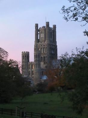 Ely Cathedral at sunset