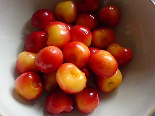 Rainier cherries
