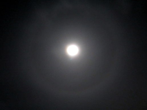 Rings around the moon