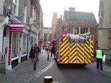Big excitement on Trinity St last Wednesday
