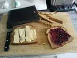 Brie and cranberry Toastabag for lunch