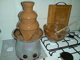 Chocolate fountain in action