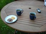Evening tea in the garden