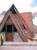 Remains of the Aconcagua base hut