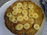 Sliced banana pancake experiment