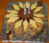 Sunflower birthday cake manufacture