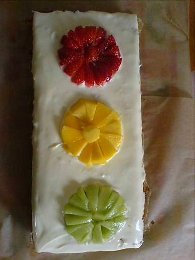 Traffic light cake