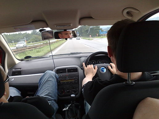 back seat driving to austria...
