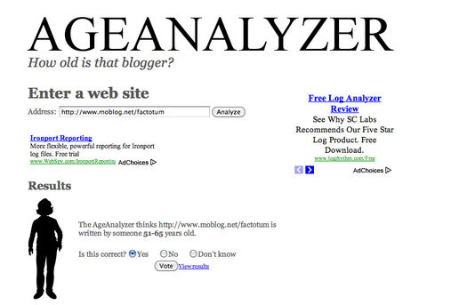Blogger Age Analyzer