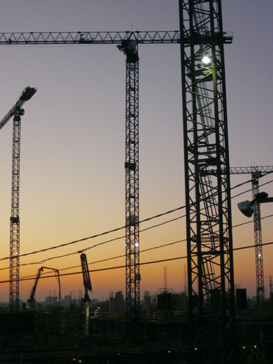 Construction Site at Sunrise