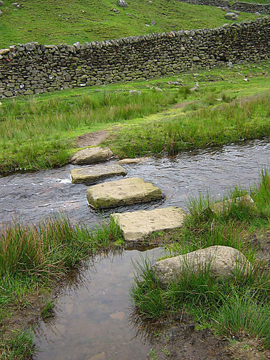 Crossing Hebden Gill