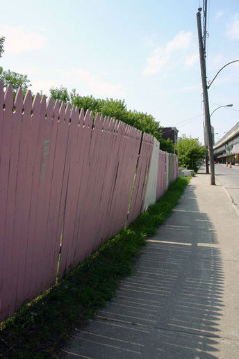 pink picket fence