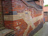 Brick work dachshund