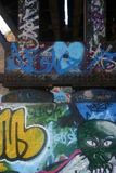 Train Bridge graffiti