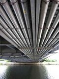 Underneath a bridge over the Lachine Canal