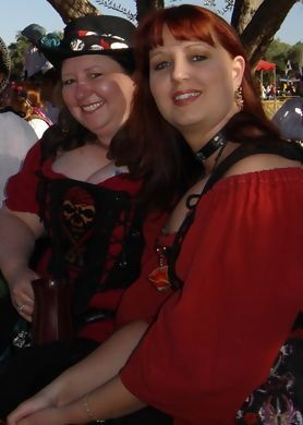 It's Jess and I, hard day at faire.