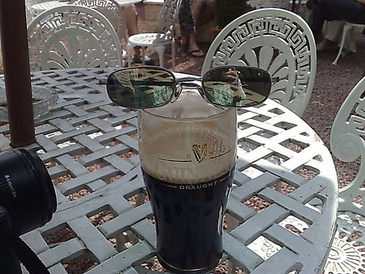 Guinness in the beer garden