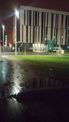 Helipad at QEUH says Southern General on it : glasgow