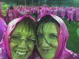 Pink Poncho close up