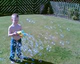 The bubble gun...