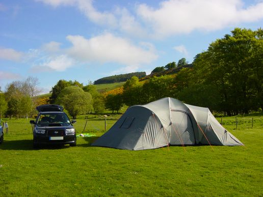 Went camping this weekend in the Borders
