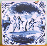 Seventeenth-Century Blue and White Delft Tile