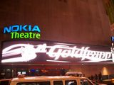 Nokia Theatre, Times Square, NYC and hey! Guess what? My name in lights. Well you?d have t o take a photo wouldn?t you? It was a