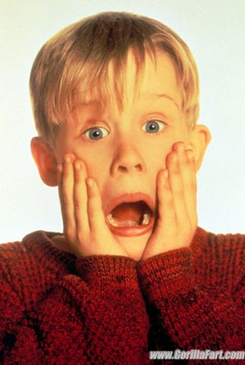 Gorillafart.com Macaulay Culkin HomeAlone famous scream pose