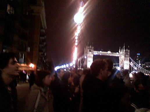 Crowd on butlers wharf