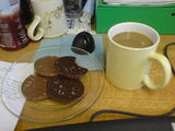 Coffee and choccie biscuits!