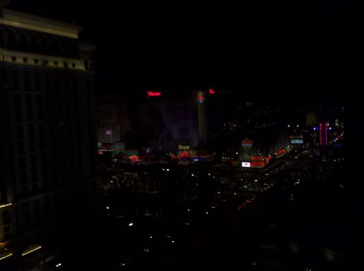 A half decent view of the lights.