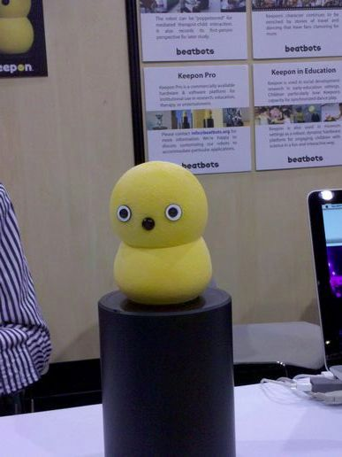 I met Keepon at CES 2010!