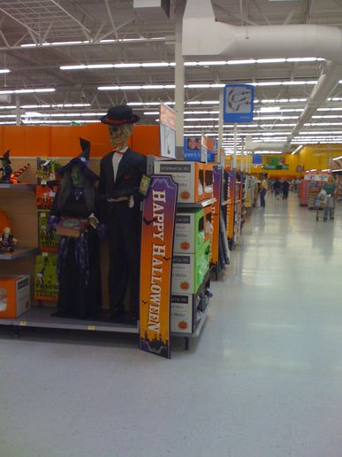 I just got scared at Walmart!