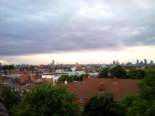 Drinking G&T in a multi-storey carpark in Peckham -- the view