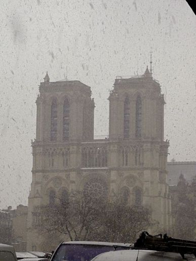 Notre Dame in the snow