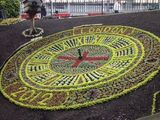 Edinburgh's floral clock, work in progress